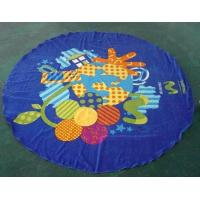 Quality Children Summer Beach Towel Round Circle Beach Towel 100% cotton Reactive Cartoon Printing for sale