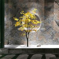 Small 1.75m Artificial Ginkgo Tree Yellow Leaf Store Decoration Corrosion for sale