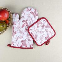 Quality Leaves Printed Heat Resistant Microwave Professional Oven Gloves Pot Holder for sale