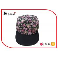 5 Panel Pink Baseball Caps For Ladies / Plastic Buckle College Baseball Hats