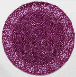 Quality hotel metallic table mat, decorative metallic table cloth, metallic table pads for sale