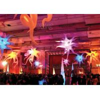 Colorful Inflatable Lighting Balloon Ceiling Decorative Inflatable Lotus