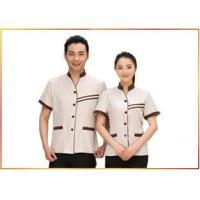 China Delicate Handwork Hotel Staff Uniforms Various Colors Slim Fit V - Neck Style on sale