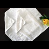 Quality aviation/airplain towel,16G 24*24 square white towel for sale