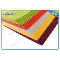 China 45 Gram Colorful Disposable Non Woven Tablecloth Eco Friendly on sale