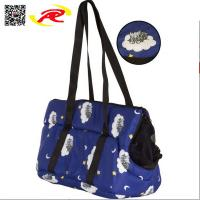 China Soft Pet Carrier Bag With Fashion sublimation Print, Nylon & Mesh animal bag for traveling on sale