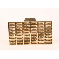 Luxury Rectangle Shape Gold Sparkly Clutch Bag Special Design