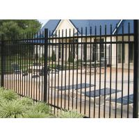 Buy cheap 1.8m Height Galvanized Steel Fence / Black Ornamental Fence Powder Coating Finish from wholesalers