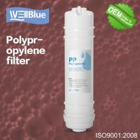 Quality White PP Cotton RO Water Filter Replacement , 10 Inch Sediment Filter Cartridge for sale