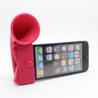 Quality silicone horn speakers for iphone for sale