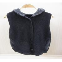 Quality Spring Bifurcate Womens Wool Skirts Knit Sweater Vest / Hooded Jacket for sale