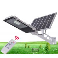 Quality 10W 30W 50W Outdoor IP65 Integrated Solar Powered Parking Lot Lights With Remote Control for sale