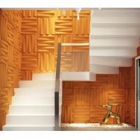 Quality Removable Bedroom / Bathroom Wall Sticker 3D Decorative Wall Panels Sound-absorbing for sale