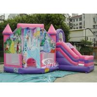 Quality 6x5m Commercial Kids Party Inflatable Princess Bouncy Castles With Slide From Sino Inflatables for sale
