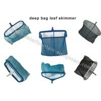 China Heavy Duty Deep Bag Leaf Rake Skimmer , Plastics Swimming Pool Cleaning Net on sale