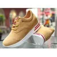 Quality Cow Suede Leather Upper Casual Sport Shoes , Platform Heel Girls Casual Shoes for sale