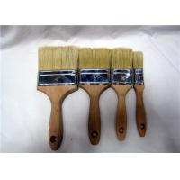 Pure White Natural Bristle Flat Wall Painting Brush , Small House Paint Brushes