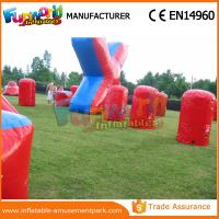 Buy cheap Customized Color Inflatable Air Bunker 0.6mm PVC Tarpaulin Paintball Inflatable Bunkers product