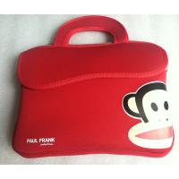 Quality Red Soft Neoprene Laptop Tote , 10 Inch Foam Printing Paul Frank Bag for sale