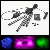 China Sound-activated RGB LED strips RGB LED Interior Footwell Lights Strips RGB Atmosphere LED Footwell Lamp Strips on sale