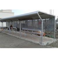 Safety Artistic Stainless Steel Bus Shelter With Seats / Garbage Bins / Line Signs