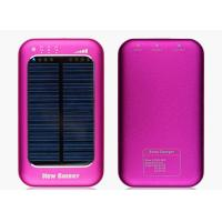 Quality 5000mah Pink Solar USB Phone Charger Universal For Mobile Phone for sale