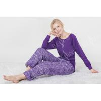 Quality Fashionable Violet Womens Pyjama Sets Long Sleeve Top Australian Design for sale