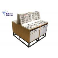 Quality Wooden Eyeglass Display Case / Eyewear Display Case Double Side With Light for sale