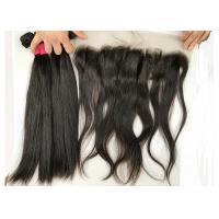 Buy cheap 18inch Silky Straight with Lace Frontal 100% Brazilian Virgin Hair Extensions from wholesalers