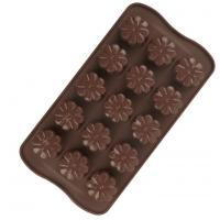Quality Flower Hard Plastic Christmas Chocolate Moulds Food Safe Tasteless for sale