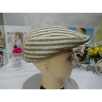 Quality Stripe Mens Homburg Hats 5cm , Advance Paper hat Fashion With Male for sale