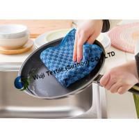 Quality Soft Check Pattern Microfiber Kitchen Cleaning for Household Cleaning 25*50 cm for sale