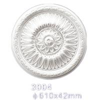 Quality 3004 Surface Mounted Decorative Ceiling Polyeurethane Medallion for sale