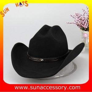 Quality Fashion hot sale Western cowboy hats for mens,100% Australia wool felt hats for boys for sale