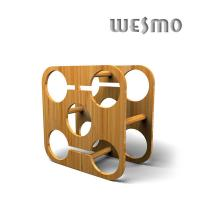 Quality Customized Nature Color Bamboo Wine Rack, Personalized Wine Accessories for sale