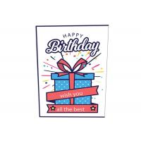 Quality Custom Logo Printing Musical Happy Birthday Card Audio Greeting For Festival for sale