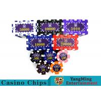 Aluminum Dedicated Casino Poker Chip Set With UV Anti - Release Function