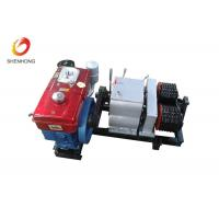 Quality 5T Double Capstan Diesel Cable Pulling Winch Machine Puller Hoist for sale