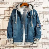 China Men's New Design Fashion Jeans Washed Jacket with Knitted Jersey Hooded on sale