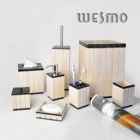Quality 8 Piece Wood Complete Bathroom Accessories Set for sale