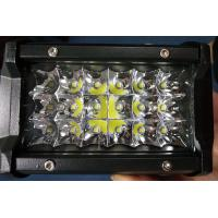 Quality 6 Inch 54W  Led Work Lights 12v Trip Row 6500k Multiple Colors for sale