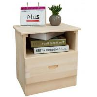 Buy cheap Single Drawer Hardwood Bedside Tables , Pretty Bedside Chest Drawers For Home product