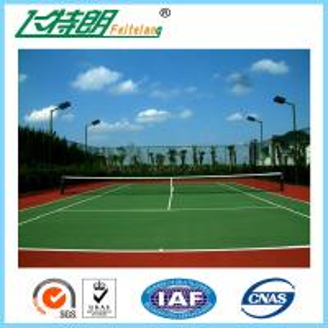 Quality Indoor Sport Court Flooring / Shock Absorbing Elastic Flooring Fastest Tennis Court Surface for sale
