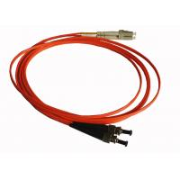 Buy cheap 3.0mm PVC Jacket ST to LC Duplex Singlemode Fiber Optic Patch Cord in Yellow from wholesalers