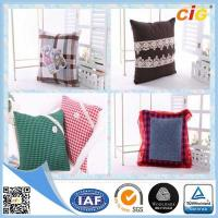 Quality Plain Natural Linen Cushion Cover / Chair Seat Pillow with Custom Color and Size for sale