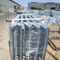 Quality Iron Tube Metal Fence Posts Hot Dipped Galvanizing Fence Panel 150mm Wing Width for sale