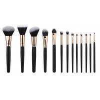 Buy cheap 13PCS high end Cosmetic Professional Makeup Brush Set Rose Golden Copper Ferrule product