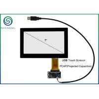 Quality 7 Inches Capacitive Touch Panel Cover Glass To ITO Glass For Touch Monitor, USB Interface for sale