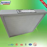 Quality Mini Pleat Medium Efficiency Panel Air Filters Alumium Frame For Clean Room for sale