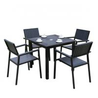 Quality Outdoor Garden wicker furniture sets Poly rattan chair  patio chairs and table for sale